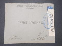 PORTUGAL - Enveloppe Commerciale De Lisbonne Pour Niort En 1916 Avec Contrôle Postal - L 9290 - 1910-... République