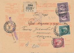 BEOGRAD / Jugoslavia /Yugoslavia - 1923 , Paketschein  - Big Letter, Dispatch = 6,70 EURO (registered) - 1919-1929 Königreich Der Serben, Kroaten & Slowenen