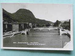 V02-38-A-departement-38-isere-grenoble-les Ponts -les Quais Et Le Saint Eynard--real Photo-- - Grenoble