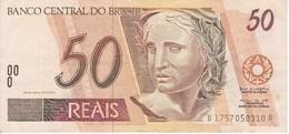 BILLETE DE BRASIL DE 50 REAIS DEL AÑO 1994 DE UNA PANTERA (ONCA PINTADA) CALIDAD EBC (XF)   (BANKNOTE) - Brésil