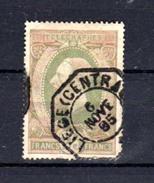 1889   Léopold II De Profil à Gauche,  TG 10 A, Cote 135 €, - Telegrafo