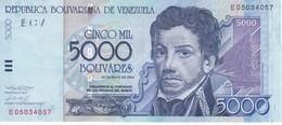 BILLETE DE VENEZUELA DE 5000 BOLIVARES DEL AÑO 2004 (BANKNOTE) - Venezuela
