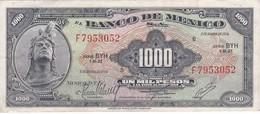 BILLETE DE MEXICO DE 1000 PESOS DEL 2 DE AGOSTO DEL AÑO 1974  (BANKNOTE) CHICHEN ITZA - México