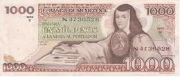 BILLETE DE MEXICO DE 1000 PESOS DEL 5 DE JULIO DEL AÑO 1978 EN CALIDAD EBC (XF) (BANKNOTE) - México
