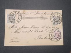 """AUTRICHE - Oblitération De """" Praha 1 Prag """" Sur Carte Postale En 1901 Pour La France ,affranchissement Plaisant - L 9306 - Briefe U. Dokumente"""