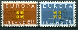 BM Island 1963 - MiNr 373-374 - Used - Europa Cept - 1944-... Republik