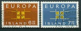 BM Island 1963   MiNr 373-374   Used   Europa Cept - 1944-... Republik