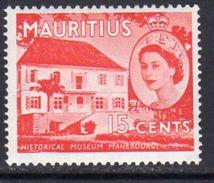 Mauritius QEII 1953-8 15c Definitive, Historical Museum, MNH SG 298 (A) - Mauritius (...-1967)