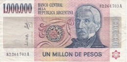 BILLETE DE ARGENTINA DE 1000000 PESOS ARGENTINOS DEL AÑO 1980-83 CALIDAD MBC (VF) (BANKNOTE) - Argentina
