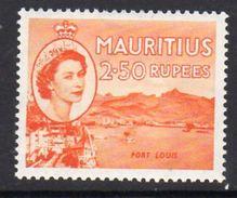 Mauritius QEII 1953-8 2 Rupee .50 Definitive, Port Louis, MNH SG 304 (A) - Mauritius (...-1967)