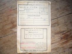 ANCIEN TICKET DE RESERVATION DE PLACES DE TRAIN / 1953 /  DESTINATION  PARIS - NICE - Chemin De Fer
