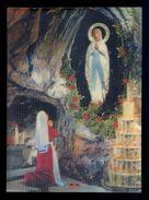 *La Grotte De Lourdes* Postal 3D. Ed. Visiorelief. Nueva. - Estereoscópicas