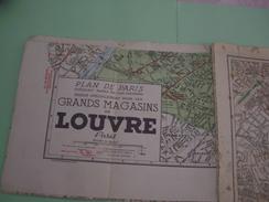 PLAN PARIS Magasins Louvre Banlieue De Paris 1900 MAPS KARTE CARTOLINA - Roadmaps