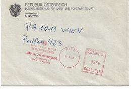 4156a: Freistempelbeleg Landwirtschaftsministerium Österreich 17.6.92 - Landwirtschaft