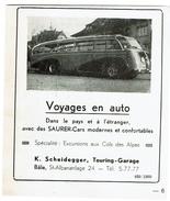 1949 - Publicité / Découpi K. Scheidegger, Touring - Garage, Bâle - SAURER - Cars - Voir Scan - Werbung