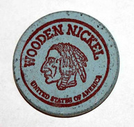 Wooden Token - Wooden Nickel - Jeton Bois Monnaie Nécessité - Tête D´Indien - Fox Photo Kodak - Renard - Etats-Unis - Monétaires/De Nécessité