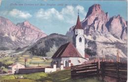 Kirche Von Corvara Mit Sass Songher - Tirol (7609) * 10. 7. 1912 - Italia