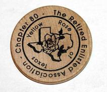 Wooden Token - Wooden Nickel - Jeton Bois Monnaie Nécessité - Texas San Antonio - Fort Alamo 2000 - Etats-Unis - Monétaires/De Nécessité