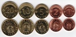 Latvia 5 Coins Set UNC - Letonia