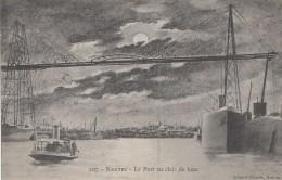 Astronomie - Lune Nuit - Nantes - Pont Remorqueur Chantenay N° 10 Bâteaux - Cachet Hauser Wolf Paris 10 Rue Pavée 4ème - Astronomia
