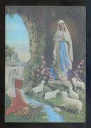 Postal 3D. *Virgen De Lourdes Y Bernadette* Ed. Fisa Nº R-104. Nueva. - Estereoscópicas