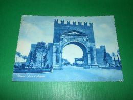 Cartolina Rimini - Arco Di Augusto 1954 - Rimini