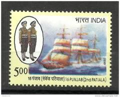 INDIA, 2010, 16th Punjab, (2nd Patiala) Regiment, Ship, Militaria  MNH, (**) - India