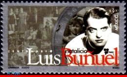 Ref. MX-2213 MEXICO 2000 FAMOUS PEOPLE, LUIS BUNUEL, FILM, DIRECTOR, MI# 2884, MNH 1V Sc# 2213 - Film