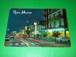 Cartolina Igea Marina - Viale Pinzon Notturno 1979 - Rimini