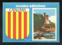 Postal Adhesiva. *Catalunya. Lloret De Mar. Vista Del Castell...* Ed. Confeiram. Nueva. - Materiales