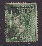 Montserrat, Scott #2, Used, Queen Victoria Overprinted, Issued 1876 - Montserrat