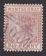 Montserrat, Scott #3, Used, Queen Victoria, Issued 1880 - Montserrat