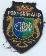 Écusson Tissu à Coudre Ancien/ Armoiries De Ville/Port Grimaud / Var /années 60-70               ET151 - Escudos En Tela