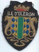 Écusson Tissu à Coudre Ancien/ Armoiries De Ville/Île D'Oléron/Charente Maritime /années 60-70               ET152 - Ecussons Tissu