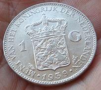 Netherlands 1 Gulden 1939 XF - 1 Florín Holandés (Gulden)