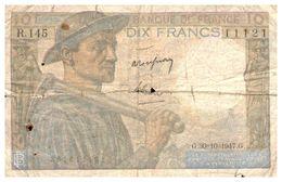 (Th 15) France BILLET De 10 Frs (MINEUR) 1947 - 10 F 1941-1949 ''Mineur''