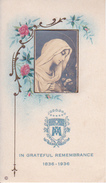 Heiligenbild - Image Pieuse - Maria - In Grateful Remembrance - 1836-1936 - 7*12cm (29424) - Andachtsbilder