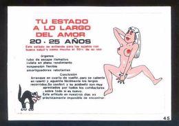 Postal Adhesiva. Ed. Caprichos, Barcelona. Escrita. - Materiales