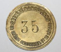 """Grand Jeton De Banque """"Société Nancéienne De Crédit Industriel Et De Dépots N°35"""" CNCI De Nancy - French Bank Token - Professionnels / De Société"""