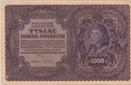 POLOGNE 1000 Marek 1919 VF P29 - Pologne