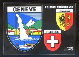 Postal Adhesiva. *Genève* Ed. Coloris Nº VGE 3. Circulada Genève 1991. - Materiales