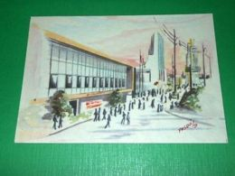 Cartolina Bari - Fiera Del Levante - Padiglioni Nel Viale Tirreno 1950 Ca - Bari