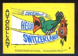 Postal Adhesiva. *Hello Switzerland* Ed. Coloris Nº FT 7. Nueva. - Materiales