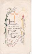 Andachtsbild - Image Pieuse - Communion Solenelle - Heimersdorf - 1954 - Jeanette Bernier - 6*11cm (29427) - Andachtsbilder