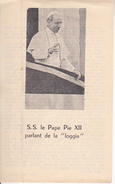 """Andachtsbild - Image Pieuse - S.S. Le Pape Pie XII Parlant De La """"loggia"""" - 8*13cm (29428) - Andachtsbilder"""