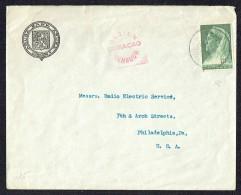 1941  Lettre De Aruba Pour Les USA  Censure De Curaçao - Curaçao, Nederlandse Antillen, Aruba