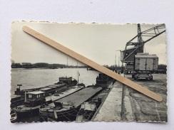 """NIEL-a/RUPEL """" LE QUAI (DE KADE ) Péniches , Grue Déchargement .(1958)PREVOT .Antwerpen . - Niel"""