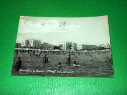 Cartolina Rivazzurra Di Rimini - Alberghi Visti Dal Mare 1964 - Rimini