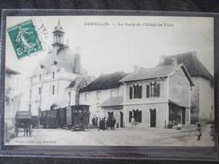 38 - ISERE - CORBELIN - La Gare Du Tramway Et L'hotel De Ville - Circulé En 1910 - TTB Etat - Tram - Village - RARE - Corbelin
