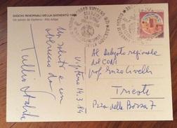 GIORNALISMO  FRIULI V.G. AUTOGRAFO  GIORNALISTA TULLIO  STABILE   AL DELEGATO CONI  ENZO CIVELLI TRIESTE - Autographes